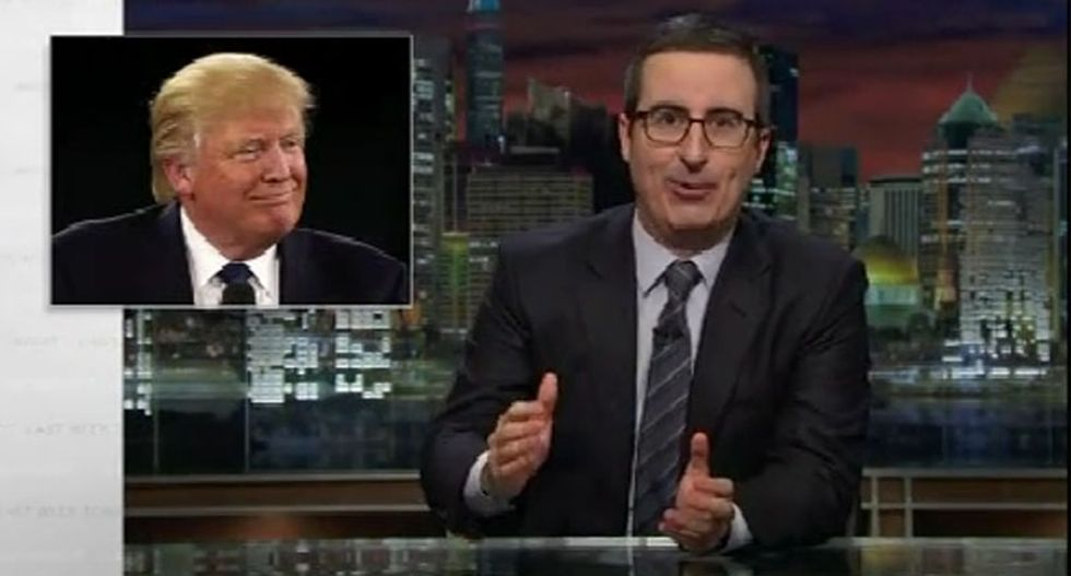 John Oliver ridicules Trump's tweets: They're like Tom Cruise -- 'short, unhinged and you can't look away'