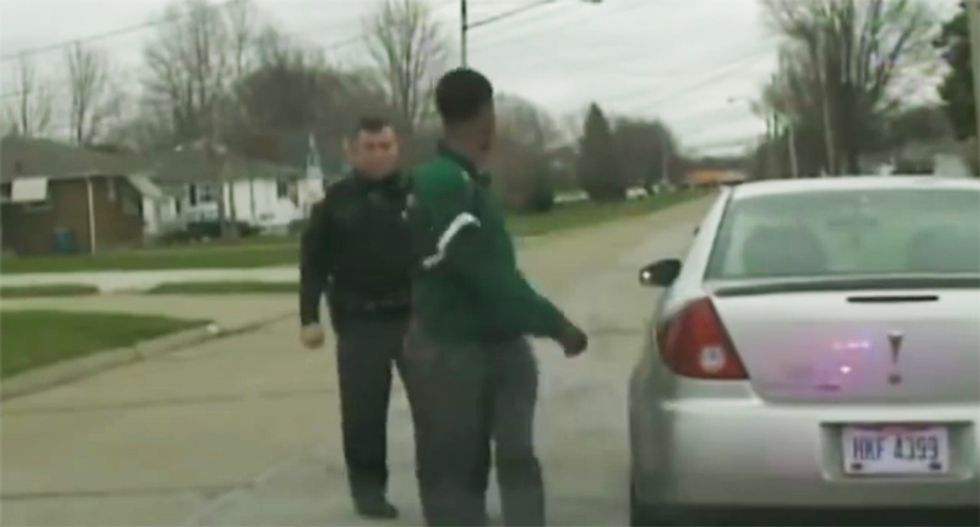 WATCH: White Ohio cop busted for illegally detaining black man dating his daughter with threat to make 'sh*t up'
