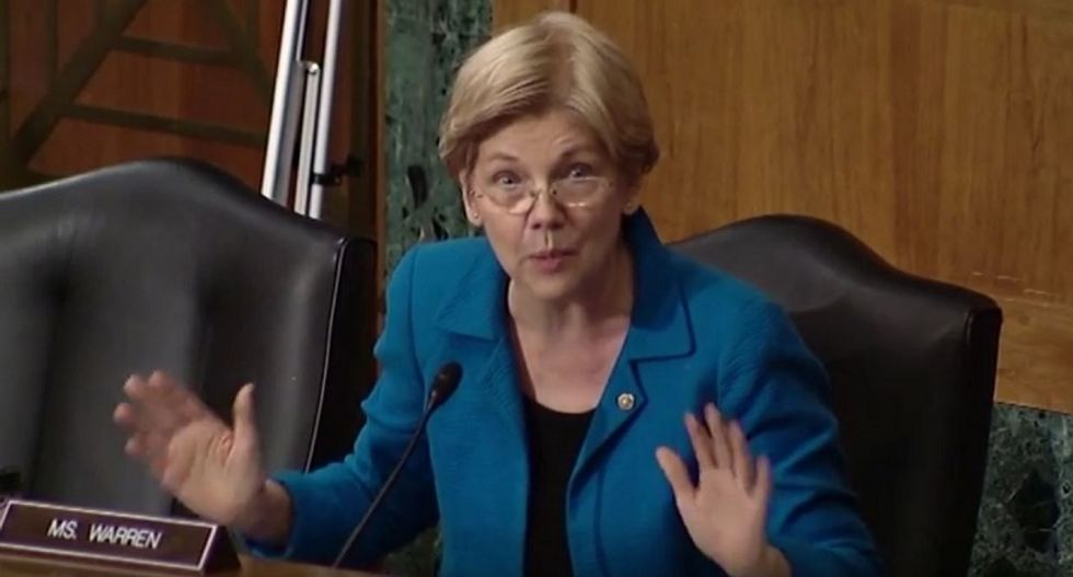 WATCH: Elizabeth Warren just opened a massive can of whoopass at today's GOP banking hearing