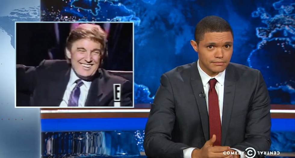 Trevor Noah found an old clip of Trump describing his baby girl's breasts that will make your skin crawl