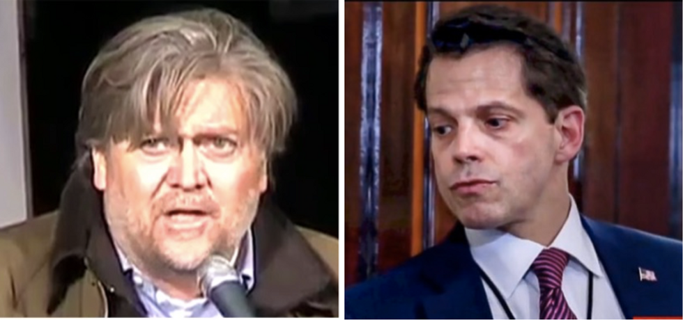 The Internet will never forgive Scaramucci for the mental image of Bannon 'sucking his own c*ck'