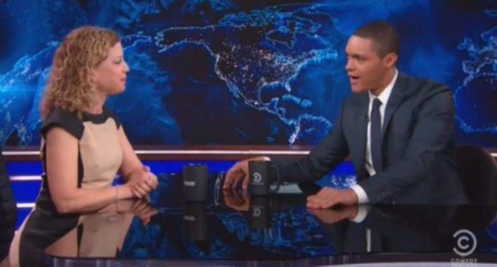 Noah presses Debbie Wasserman-Schultz on superdelegates and 'c*ckblocking' Sanders