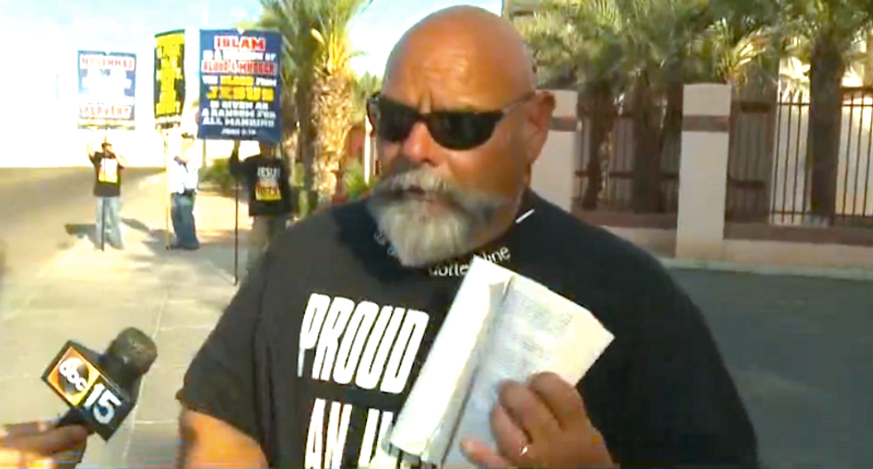 Anti-Muslim goons rip up Quran and beg Trump to turn Phoenix mosque into a 7-Eleven