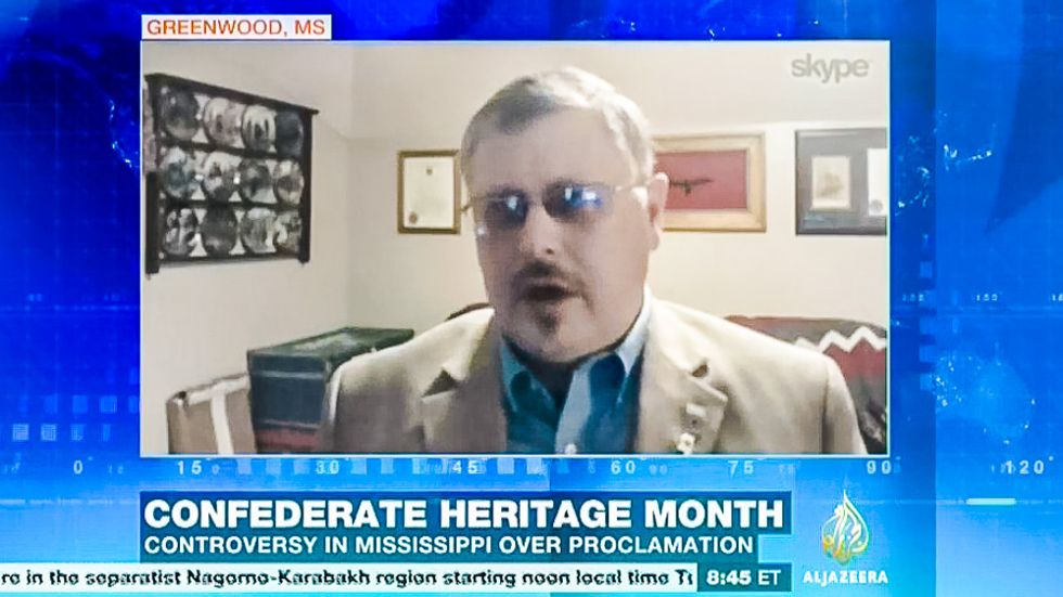 WATCH: Al Jazeera host calls out pro-Confederate 'commander' for 'trying to preserve a racist past'