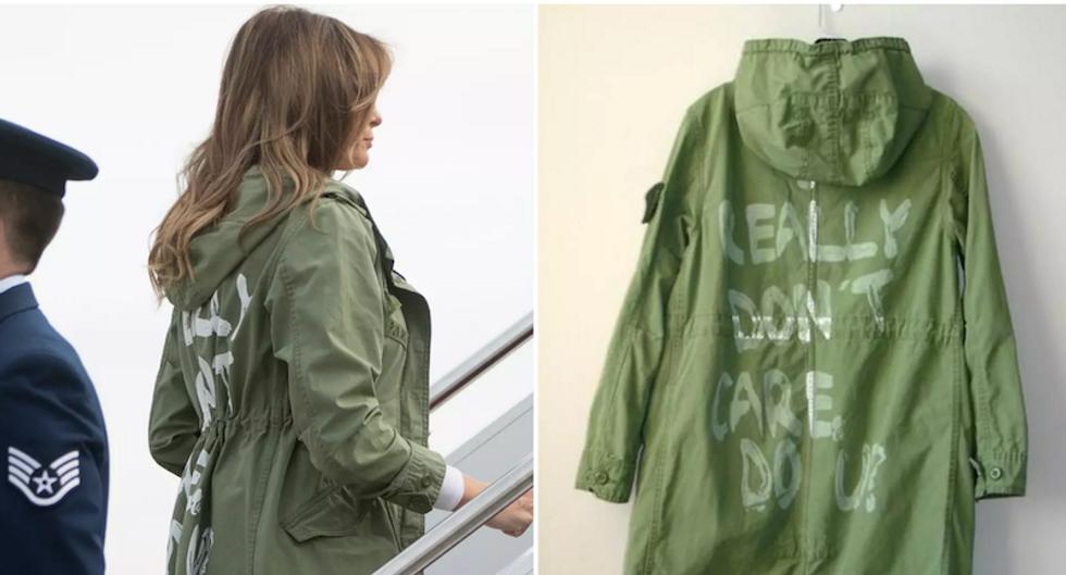 Trump bizarrely tweets Melania's 'I really don't care, do u?' jacket was aimed at 'Fake News Media'