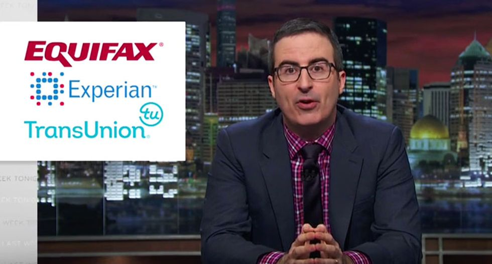 John Oliver destroys credit reporting agencies in his greatest prank yet: 'Those f*ckers are evil'