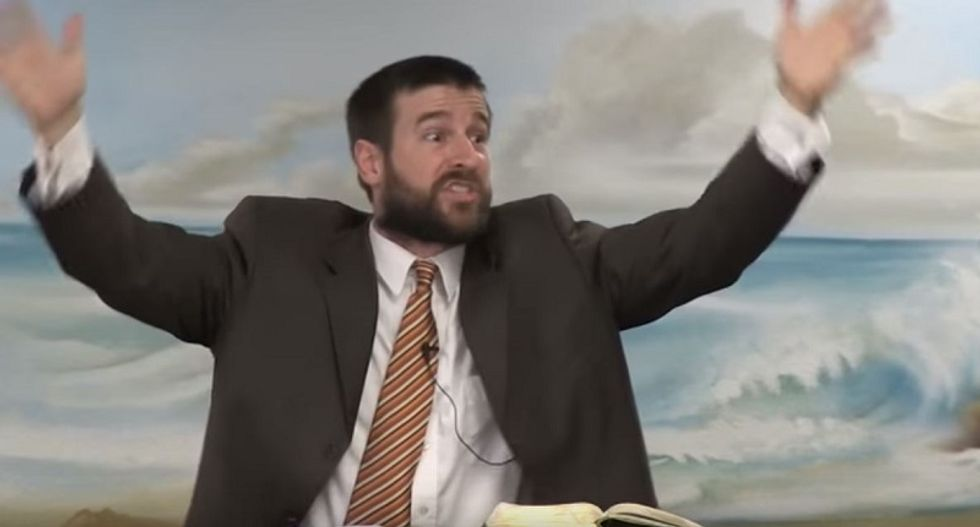 Anti-gay pastor goes on arm-flailing US flag rant: I refuse to pledge allegiance to sodomy and abortion