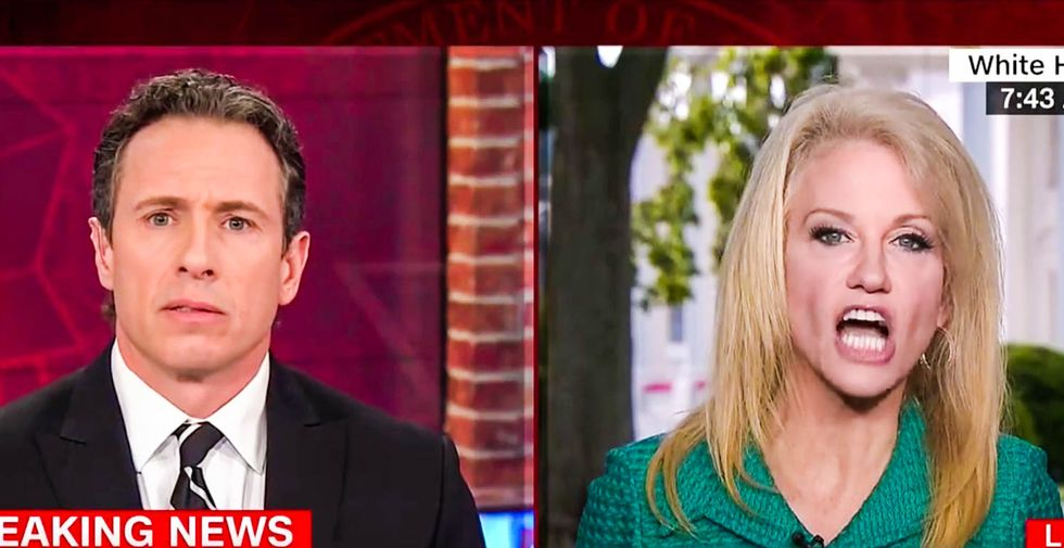 Chris Cuomo stunned as Kellyanne Conway says it's inappropriate to question Trump's Comey firing