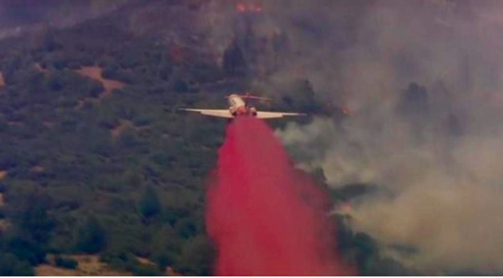 California wildfire threatens to cut off rural community