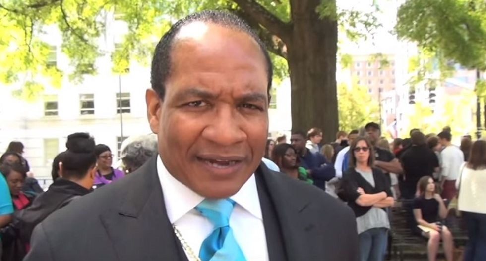 Pastor obsessed with men's butts gives speech at anti-gay rally in North Carolina