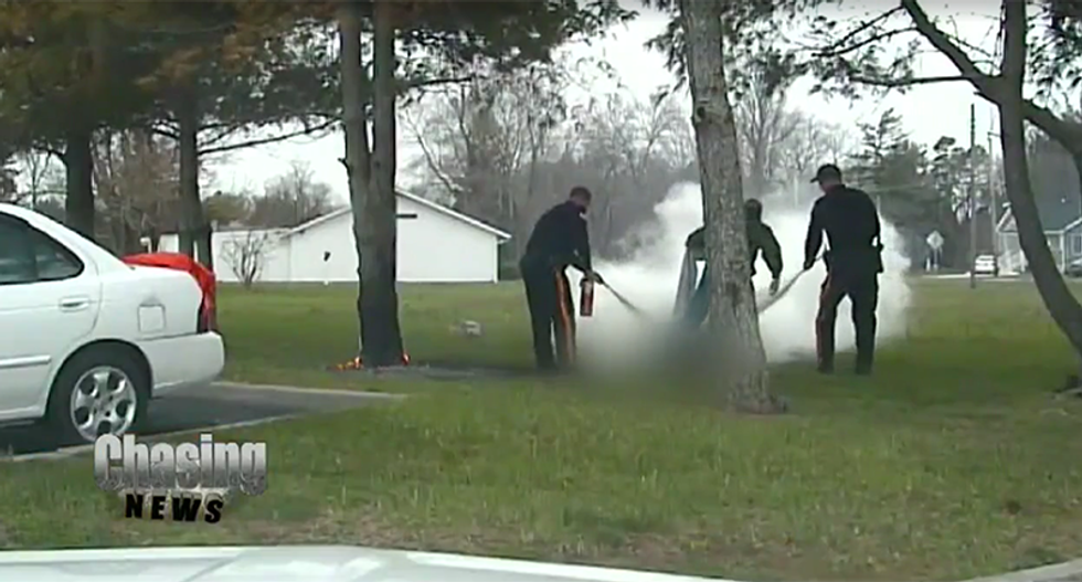 Distraught veteran sets himself on fire with gasoline outside VA facility after losing wife and job