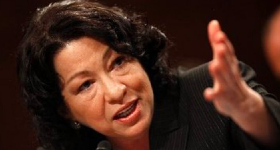 Trump trashes Sonia Sotomayor during press conference in India