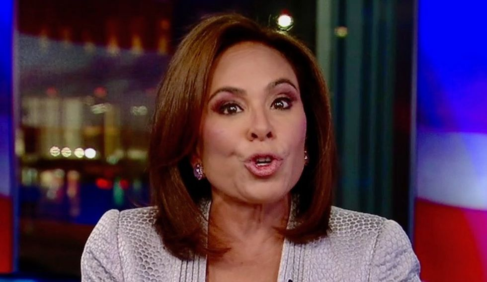Watch: Fox News' Judge Jeanine slams Jeff Sessions in unhinged conspiracy rant about Comey and Russian uranium