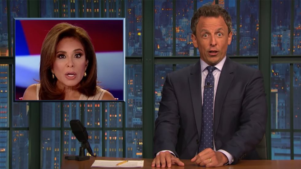 Seth Meyers mocks Fox News host Jeanine Pirro as someone who 'looks like she uses demon rats all the time'