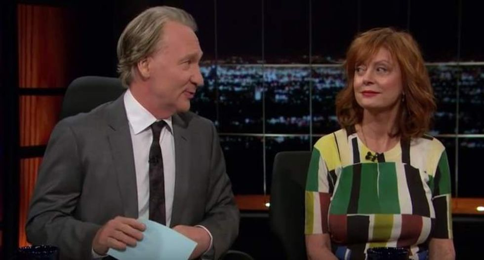 'Perfect is not on the menu': Maher presses Susan Sarandon on backing Clinton against GOP nominee