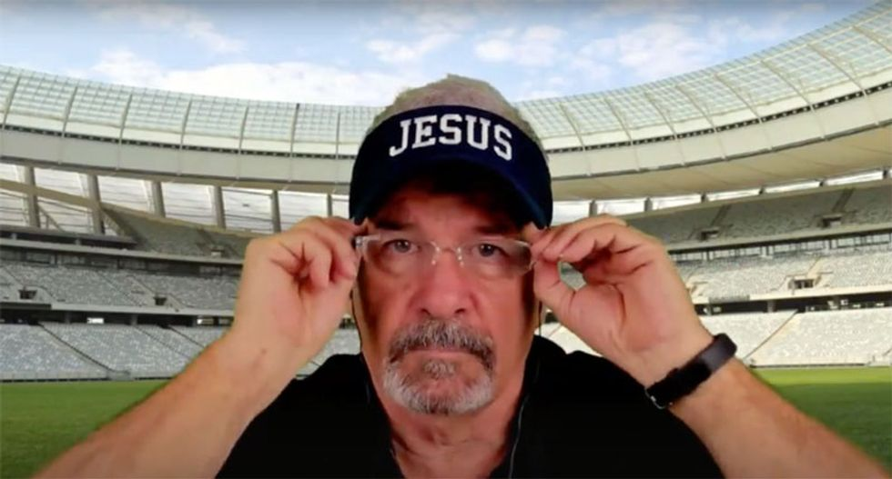 'Suck on that one, bud!': Watch Trump-loving preacher's rant against 'masculinity'-lacking of Parkland students