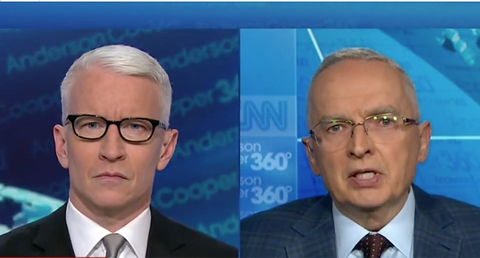 Retired Army lieutenant colonel Ralph Peters compares Donald Trump's 'clownish antics' to Russia propaganda