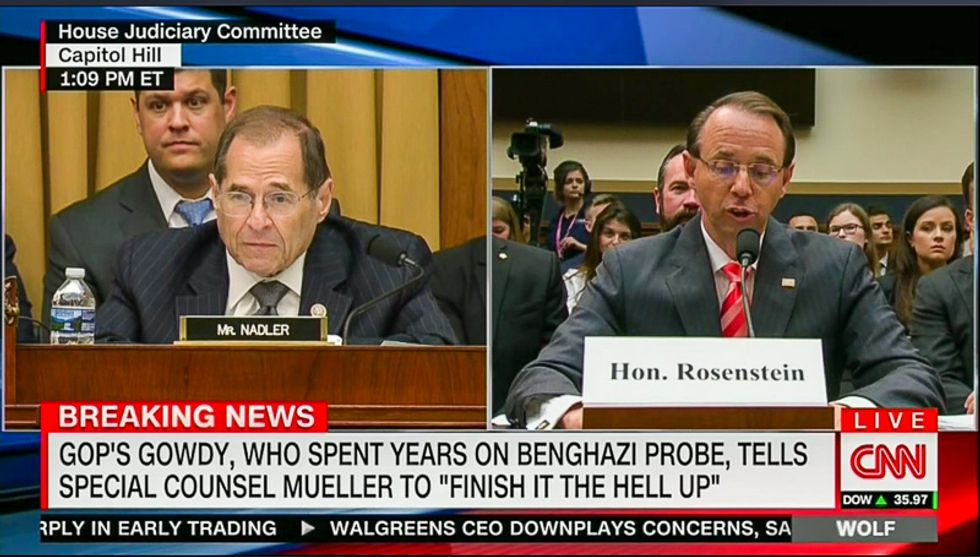 CNN graphic perfectly destroys Trey Gowdy: He spent 'years' on Benghazi before demanding Mueller 'finish the hell up'