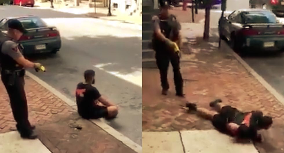 WATCH: Pennsylvania cop uses a stun gun on a black man who was complying with his orders