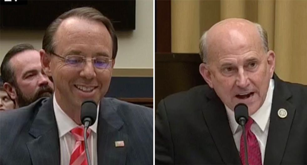 'I thought you were asking me questions': Laughing Rosenstein smacks down Gohmert after FISA warrant rant