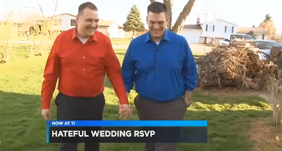 Same-sex couple targeted by hate mail receive love from LGBT-friendly church