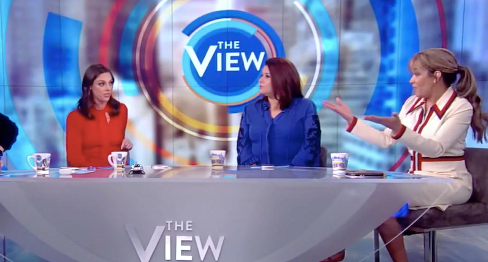 The View's Abby Huntsman gets schooled for blaming Pelosi for party-line impeachment vote
