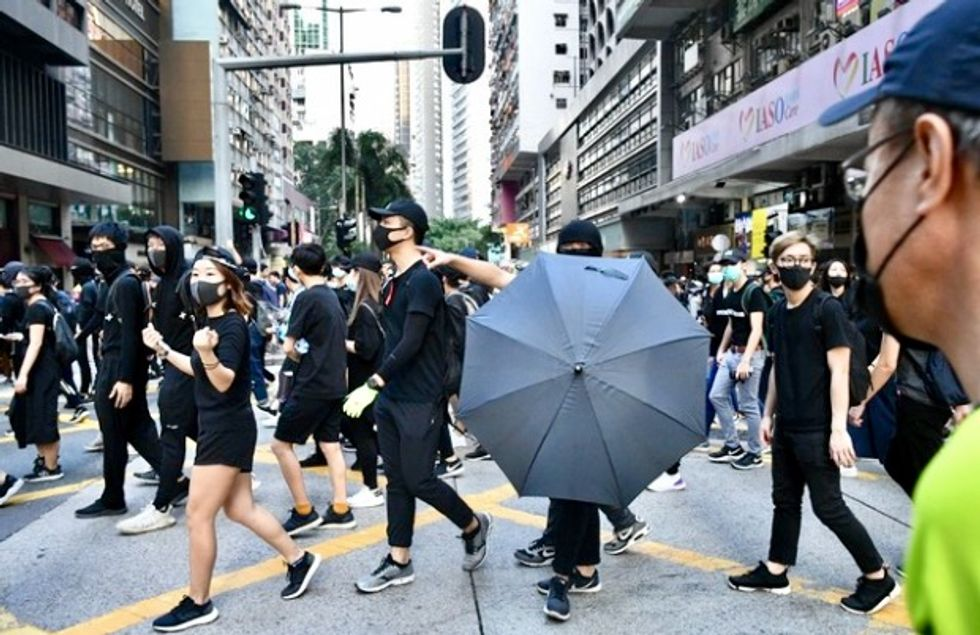 Sewer campus escape bid by Hong Kong protesters ends in arrest