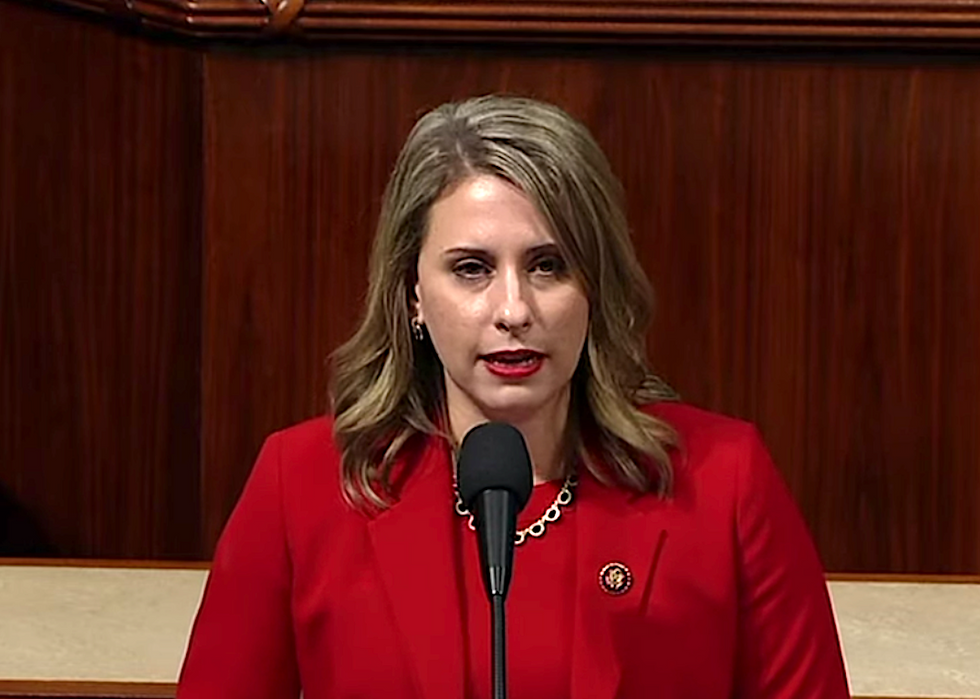 WATCH: Katie Hill calls out men 'credibly accused of sexual violence' in the 'Supreme Court and Oval Office' in final speech