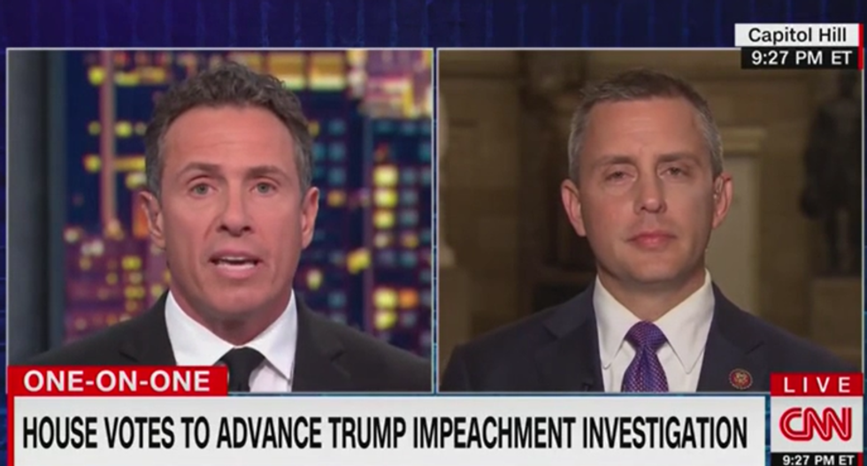 CNN's Cuomo clashes with GOP lawmaker for voting against the impeachment process he demanded