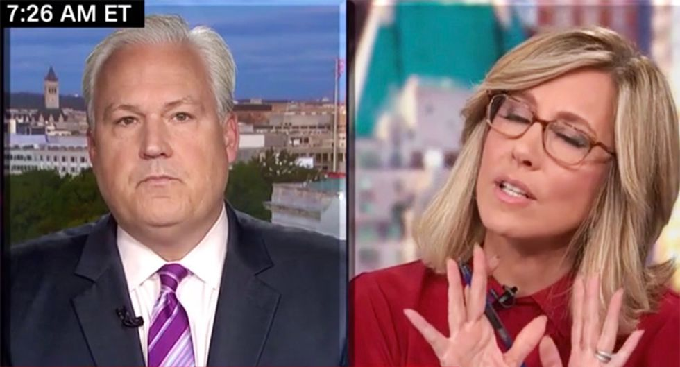 'Time out!': CNN's Camerota forced to repeatedly cut off Trump defender for blurting lies about impeachment