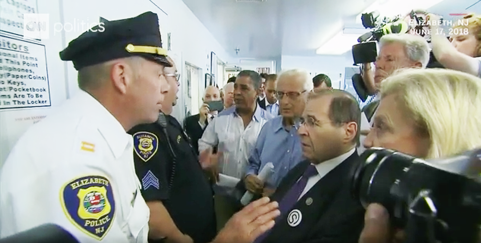 'This is America -- it isn't Moscow': Watch angry lawmakers demand entrance to New Jersey ICE detention center