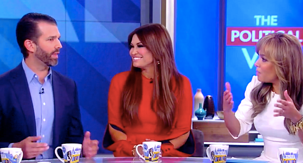 'That's a lie!' The View's Sunny Hostin blasts Donald Trump Jr as he sputters excuses for quid pro quo