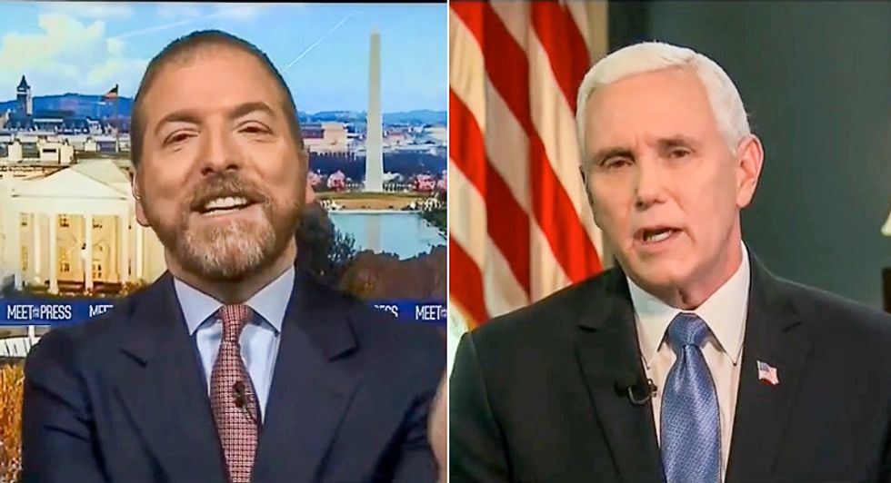 'Useless propaganda': Chuck Todd faces backlash after he admits giving Mike Pence 'a lot of leeway' to lie