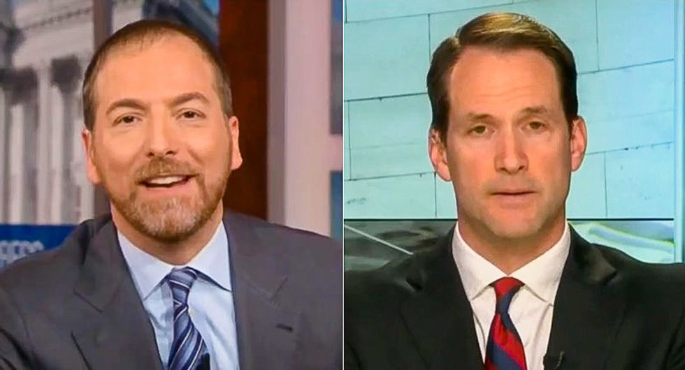 Jim Himes coldcocks Chuck Todd seconds after he lets Rand Paul lie: 'My head is only now decombusting'