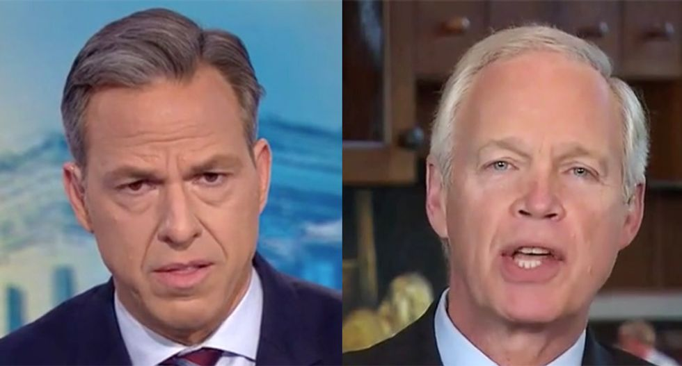 'That's not true': CNN's Tapper busts Ron Johnson for repeating Trump's Ukraine lies during frantic interview