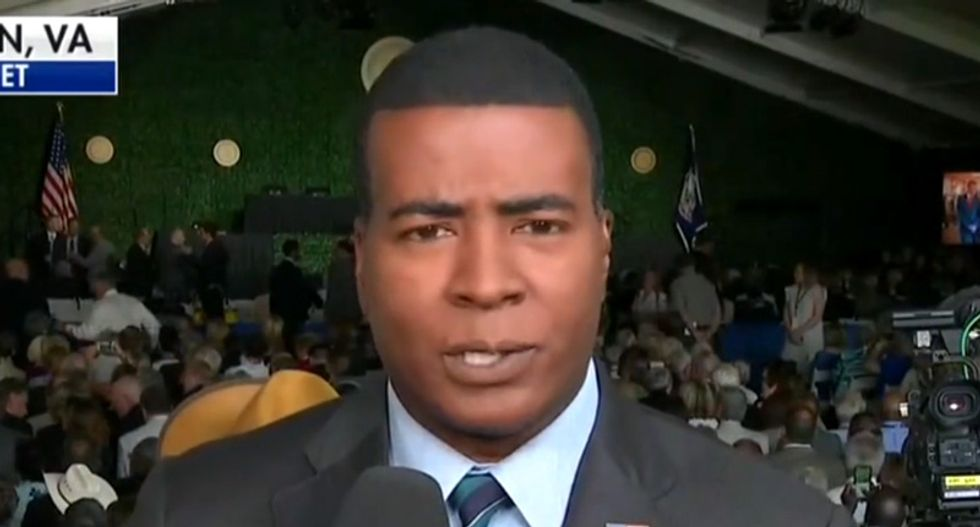 Fox reporter points out black lawmakers are boycotting Trump's speech just moments after president calls himself 'least racist person in the world'