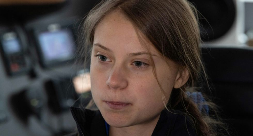 Greta Thunberg says 'people must finally wake up' to the fact Trump is 'so extreme' on climate change