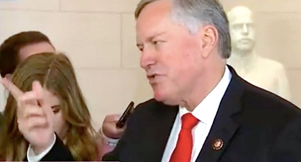 Mark Meadows tries to dismiss new bombshell during frantic press gaggle: 'Everybody has their impression of what truth is'
