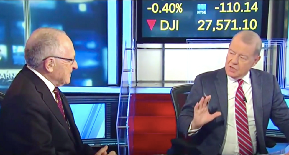 Alan Dershowitz gets called out on Fox Business for slurring rape accuser as 'sleazy'