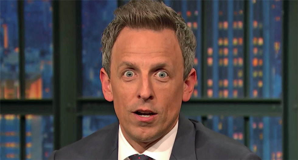 WATCH: Seth Meyers gives the perfect one-minute update on all the crazy from Trump and Senate Republicans