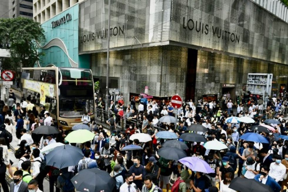 Hong Kong protests hit universities, business district