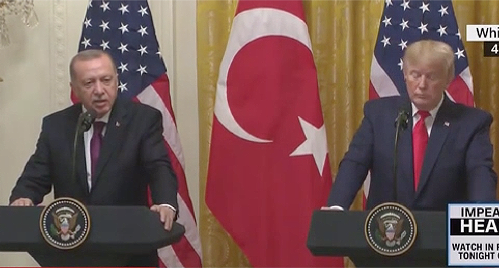 WATCH: Trump whines to Turkish president he only takes questions from 'friendly reporters'