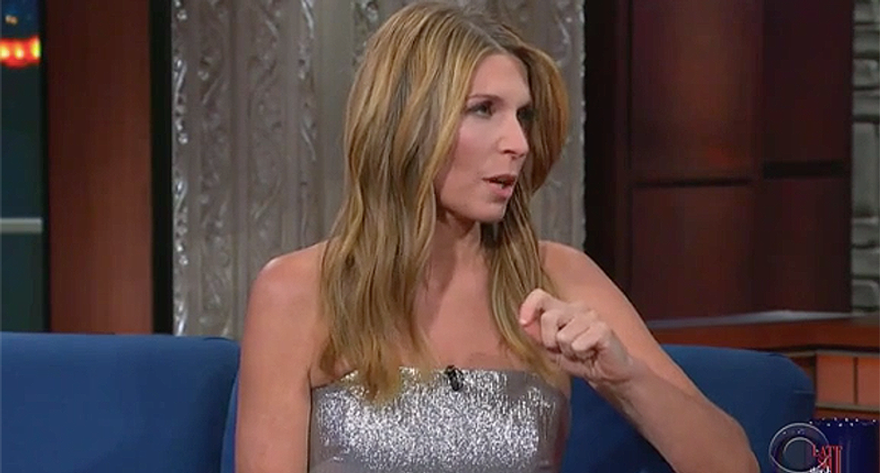 Nicolle Wallace tells Colbert why she cursed at Fox News host Laura Ingraham -- and that she left the GOP