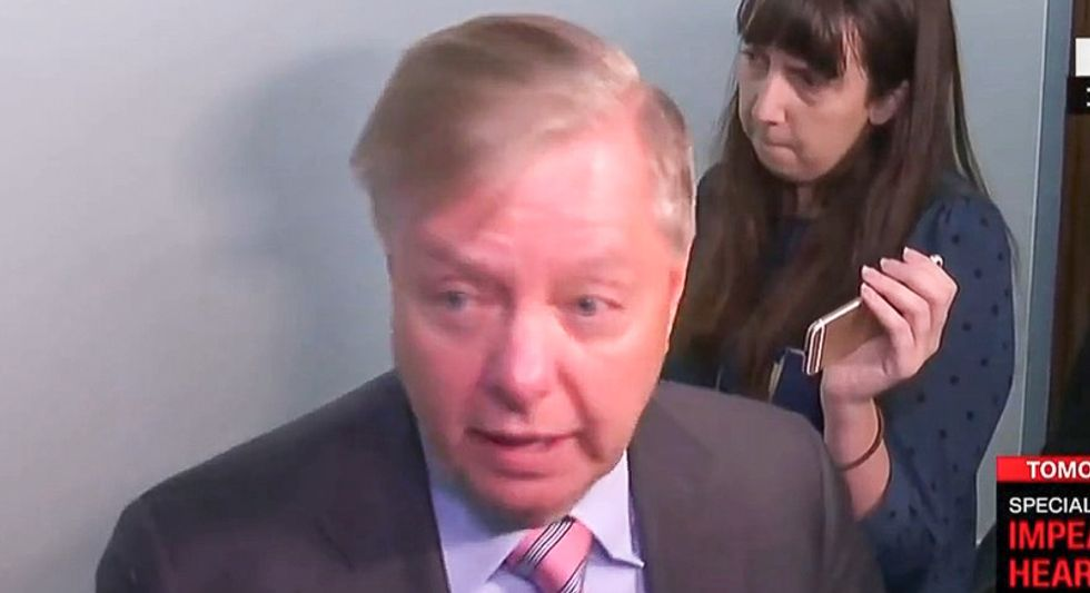 Lindsey Graham quickly scuttles press conference after being linked to Ukraine scheme