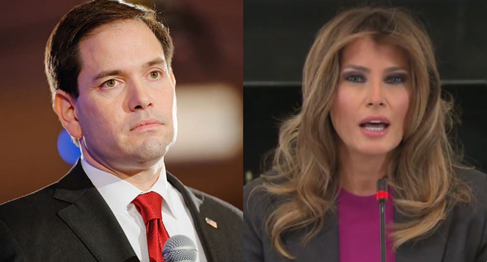 Marco Rubio gets owned by the Internet for 'kissing Trump's ass' while trying to defend Melania