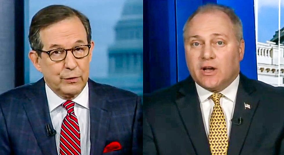 Chris Wallace crushes GOP Whip Steve Scalise's twisted defense of Trump: 'We're not talking about the whistleblower'