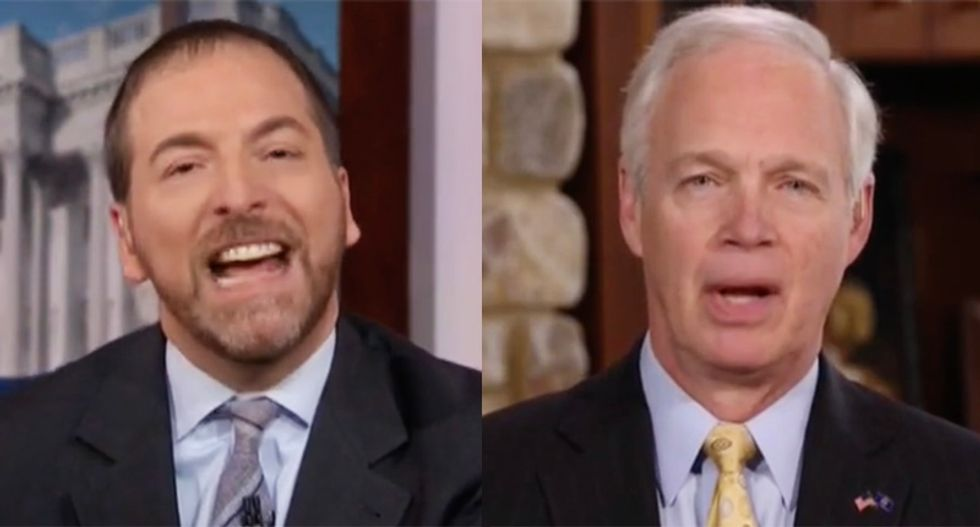 Chuck Todd burns down GOP's Ron Johnson's Ukraine excuses: 'You seem to blame this on everybody but the president'