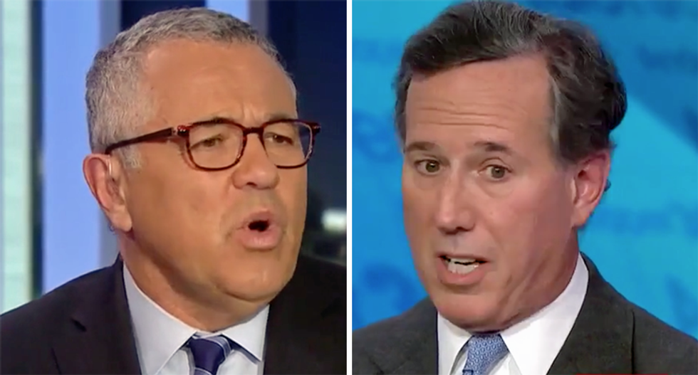 CNN legal analyst flattens Rick Santorum for ridiculous impeachment defense of Trump