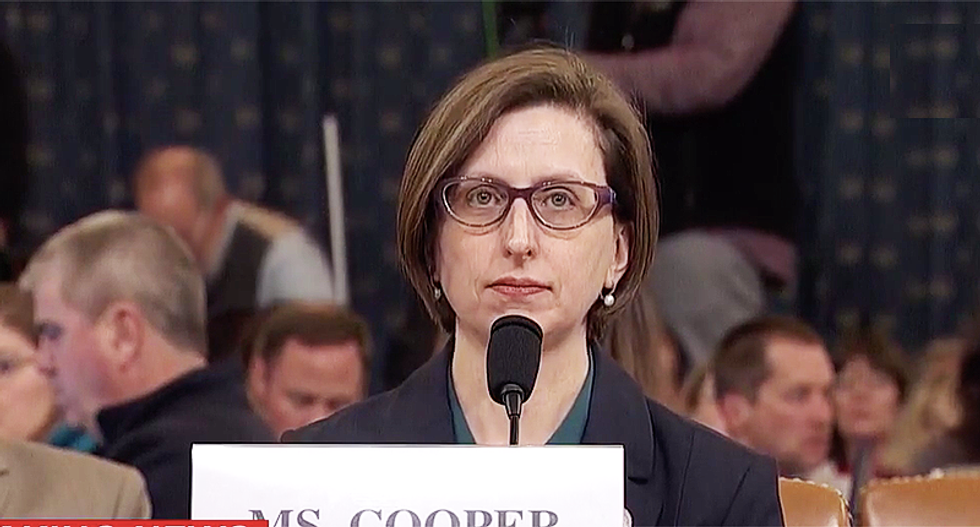 Another Trump defense get legs knocked out from under it in witness Laura Cooper statement