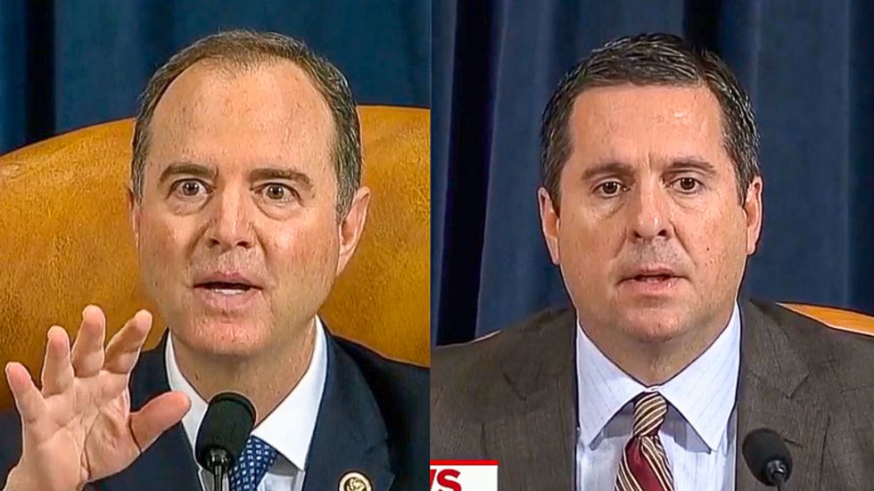 Impeachment inquiry hearing bursts into laughter after Schiff burns Devin Nunes